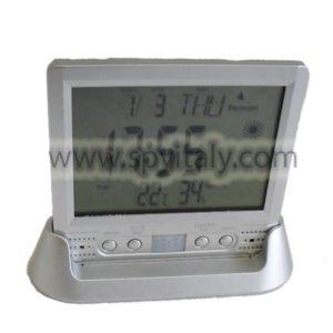 D-METEO-DVR - Videoregistratore con microcamera e registratore audio in orologio da tavolo
