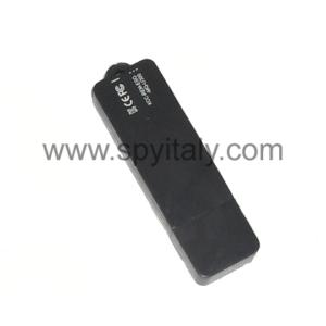 GHOST-REC-B - Portachiavi e chiavetta USB con registratore vocale 15 ore autonomia in registrazione
