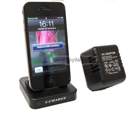 IPH-DVR - Videoregistratore con microcamera carica cellulare da tavolo