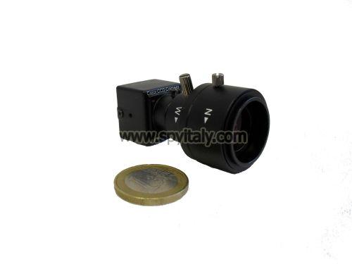 M20-DN-V49 - Microcamera CCD colori ottica VARIFOCAL ZOOM