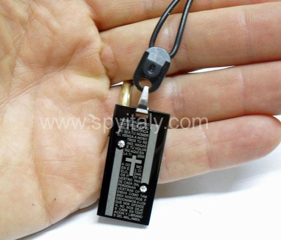 NKL-CAM - Microcamera nascosta in ciondolo con collana